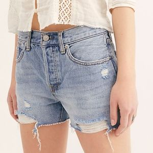 NWT Free People Sofia Distressed Frayed Shorts
